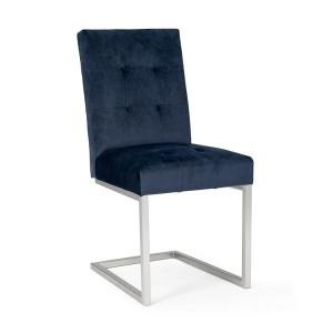 Bentley Designs Tivoli Cantilever Chair Dark Blue Velvet Pair