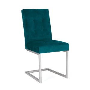 Bentley Designs Tivoli Cantilever Chair Sea Green Velvet Pair