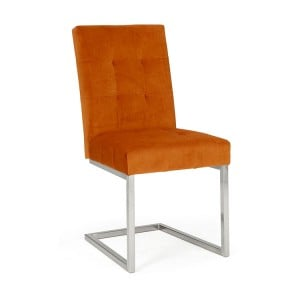 Bentley Designs Tivoli Cantilever Chair Harvest Pumpkin Velvet Pair