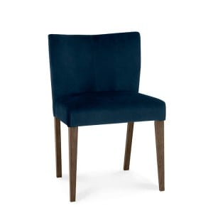 Bentley Designs Turin Dark Oak Low Back Velvet Chair Pair