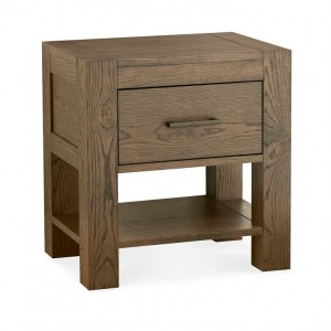 Bentley Designs Turin Dark Oak 1 Drawer Nightstand