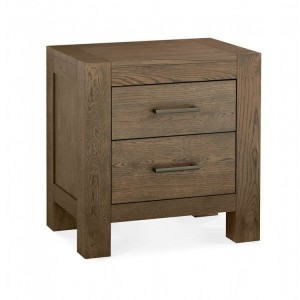 Bentley Designs Turin Dark Oak 2 Drawer Nightstand