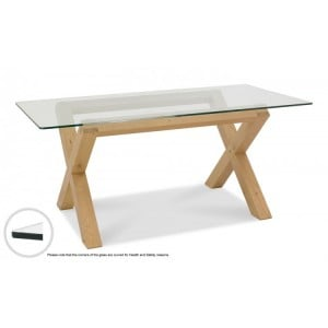 Bentley Designs Turin Furniture 6 Seater Glass Top Dining Room Table