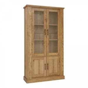 Bentley Designs Westbury Rustic Oak Display Cabinet