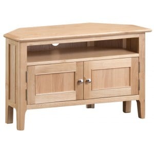 Bergen Oak Furniture Corner TV Unit