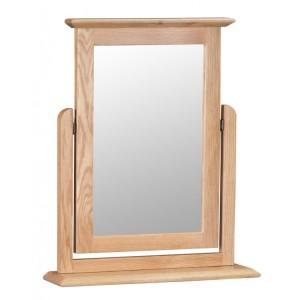 Bergen Oak Furniture Trinket Mirror
