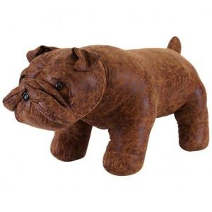 Animal Ottomans Novelty Brown Bulldog Footstool