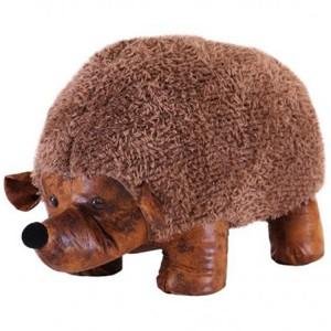 Animal Ottomans Novelty Brown Hedgehog Footstool