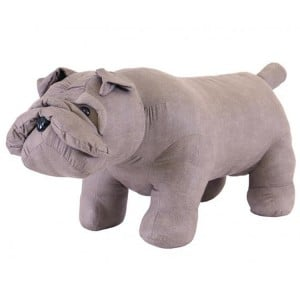 Animal Ottomans Novelty Grey Bulldog Footstool
