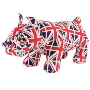Animal Ottomans Novelty Union Jack Bulldog Footstool