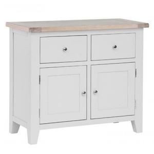 Chalked Oak And Light Grey Painted Furniture 2 Drawer 2 Door Buffet