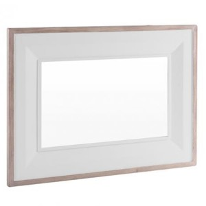 Chalked Oak And Light Grey Painted Furniture Large Rectangular Wall Mirror