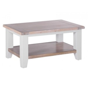 Chalked Oak And Light Grey Painted Furniture Rectangular Coffee Table