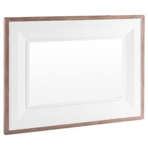 Chalked Oak And Pure White Furniture Rectangular Mirror