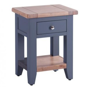 Chalked Oak And Downpipe Furniture 1 Drawer 1 Shelf Bedside Table