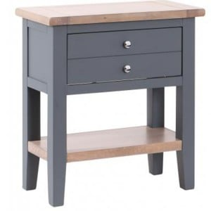 Chalked Oak And Downpipe Furniture 1 Drawer Console Hall Table