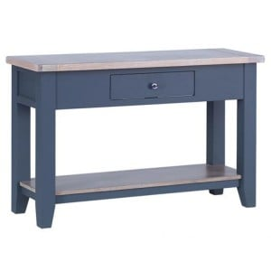 Chalked Oak And Downpipe Furniture 1 Drawer Hall Console Table