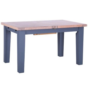 Chalked Oak And Downpipe Furniture 180-230cm Extending Dining Table