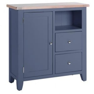 Chalked Oak And Downpipe Furniture 2 Drawer 1 Door Organiser Cabinet