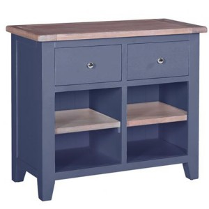 Chalked Oak And Downpipe Furniture 2 Drawer Buffet with 2 Shelves