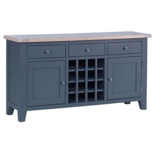 Chalked Oak And Downpipe Furniture 3 Drawer 2 Door Wine Table