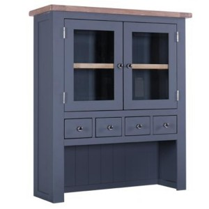 Chalked Oak And Downpipe Furniture 4 Drawer 2 Door Hutch