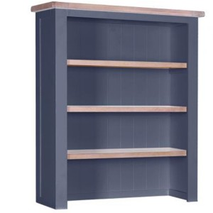 Chalked Oak And Downpipe Furniture Hutch with 3 Shelves