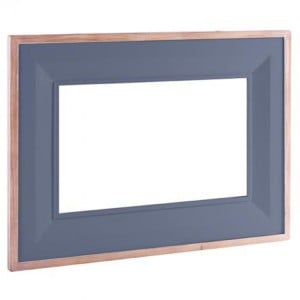 Chalked Oak And Downpipe Furniture Large Rectangular Mirror