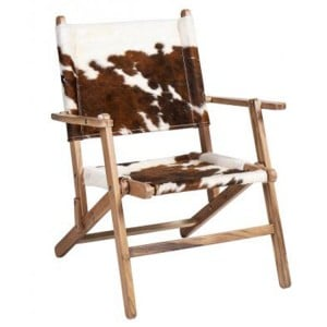 Durban Collection Animal Print Fabric Chair