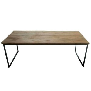 Durban Collection Iron Large Rectangular Coffee Table