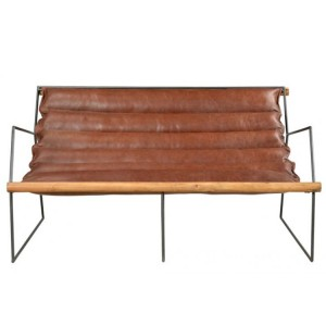 Durban Collection Iron Leather Two Seater Sofa