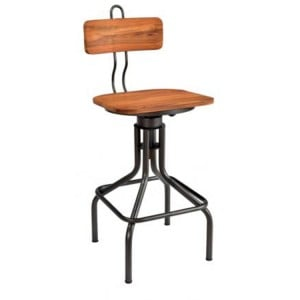 Durban Collection Iron and Wooden Bar Chair