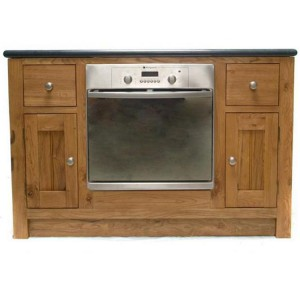 Evelyn Oak Kitchen Furniture 2 Door 2 Drawer Oven Unit
