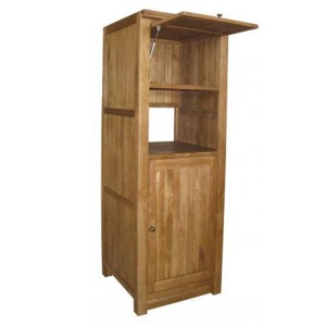 Evelyn Oak Kitchen Furniture 2 Door Coffee Maker Unit