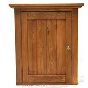 Evelyn Oak Kitchen Furniture Rectangular 1 Door Left Hand Wall Cabinet