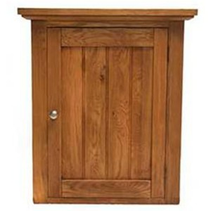 Evelyn Oak Kitchen Furniture Rectangular 1 Door Right Hand Wall Cabinet