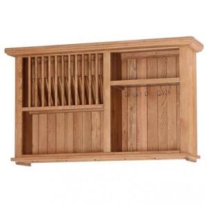 Evelyn Oak Kitchen Furniture Rectangular 1 Shelf Wall Cabinet with Wine Rack