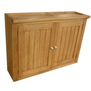 Evelyn Oak Kitchen Furniture Rectangular 2 Door Wall Cabinet with Removable Shelf