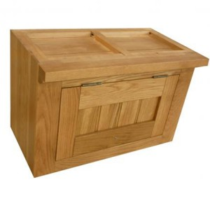 Evelyn Oak Kitchen Furniture Rectangular 1 Door Wall Cabinet