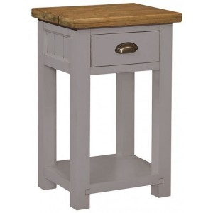 Fairford Grey Painted Furniture 1 Drawer Console Table