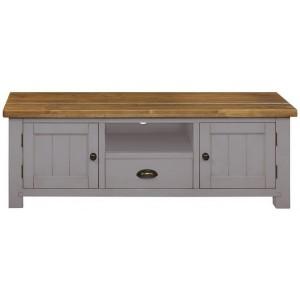 Fairford Grey Painted Furniture 2 Door 1 Drawer TV Media Unit