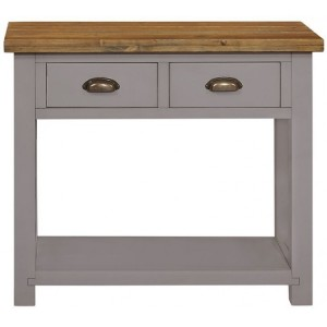 Fairford Grey Painted Furniture 2 Drawer Console Table