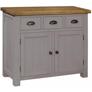 Fairford Grey Painted Furniture 3 Drawer 2 Door Sideboard