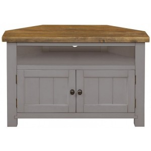 Fairford Grey Painted Furniture Corner TV Unit