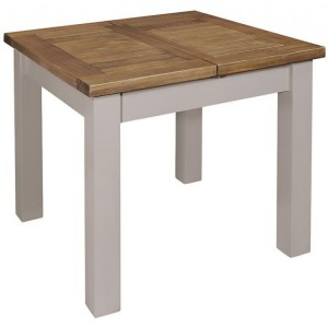 Fairford Grey Painted Furniture Extending Dining Table 90-130cm