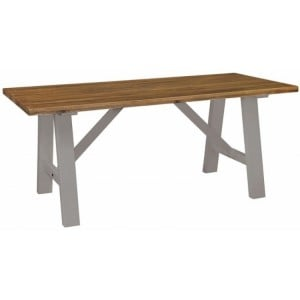 Fairford Grey Painted Furniture Fixed Top 180cm Dining Table