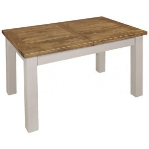 Fairford Grey Painted Furniture Medium Extending Dining Table