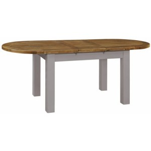 Fairford Grey Painted Furniture Oval Extending Dining Table 180-220cm