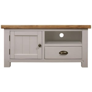 Fairford Grey Painted Furniture Small 1 Drawer 1 Door TV Unit