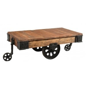 Handicrafts Industrial Furniture Upcycled Iron Trolley Coffee Table